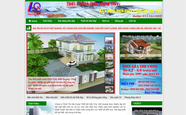 Website xây dựng 003