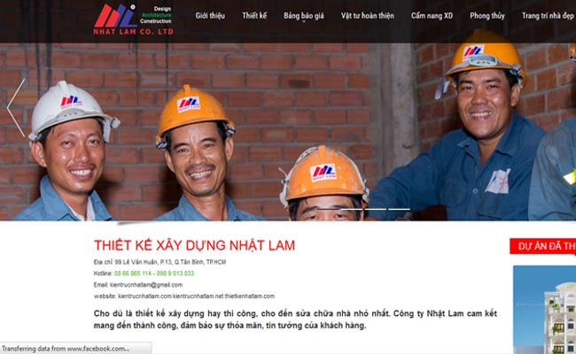 Website xây dựng 007